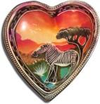 4″ soapstone heart bowl – Zebra Sunset