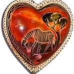 4″ soapstone heart bowl – Grazing Zebra