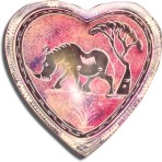 4″ soapstone heart bowl – Rhino and Tree 2