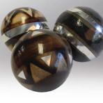 Ethnic Silver Deco-Spheres